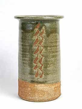 Tall Leach cylinder vase