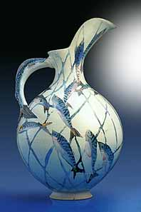 Port Isaac jug with fish design