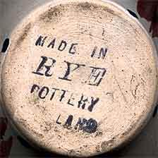 Squashed Rye pot (mark)