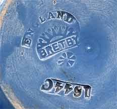 Blue Bretby bowl (mark)