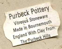 Purbeck lamp base (label)