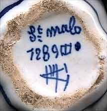 Desvres armorial jug (mark)