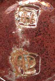 David Leach faceted bowl (marks)