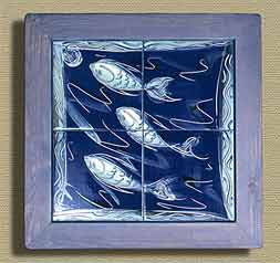 Framed fish tiles