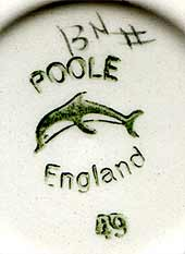 Floral Poole dish (mark)