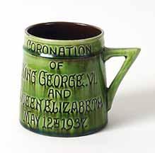 Green coronation mug