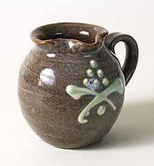 Beige side-handled jug