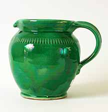 Fishley Holland green jug