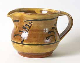 Slip decorated  jug