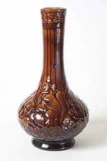Brown Bretby vase