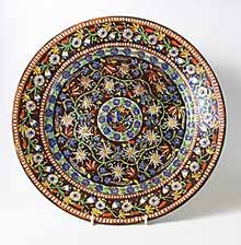 Large brown Thoune plate