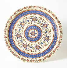 Cream and blue Thoune plate
