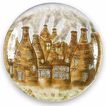 Cobridge bottle kiln plate