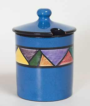 Watcombe Jazz sugar pot
