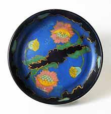 Blue floral dish