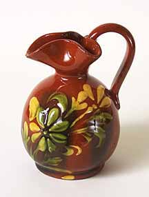 Brown floral jug