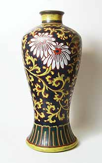 Dark highly figured vase