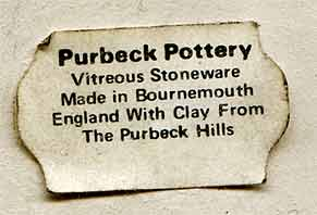 Purbeck vase (mark)