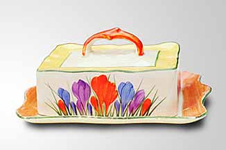 Clarice Cliff cheese dish