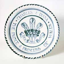 Rye 'Charles and Diana' plate