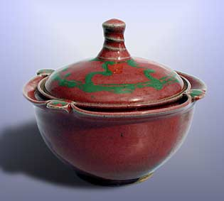 Lidded Saxby bowl