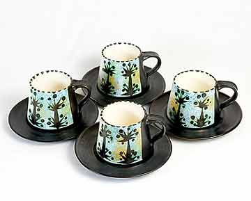 Celtic Folk cups and saucers