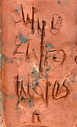Wye relief plaque 3 (mark)