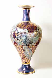 Gold and lustre Port Isaac Vase