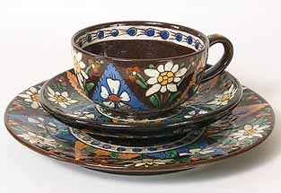Thoune cup, saucer and plate