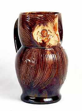 Brown Farnham owl jug