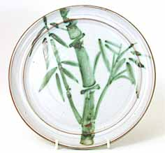 Briglin plate, bamboo design
