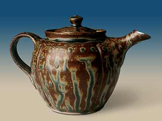 Ash glazed teapot.
