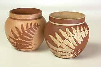 Pair of Salopian pots