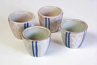 Four Swedish egg cups