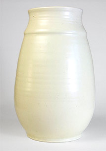 Magnolia white Poole vase