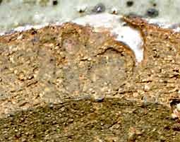 Stoneware dish (mark)