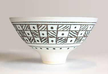 White inlaid Wills bowl