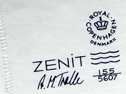 Copenhagen Zenit vase (mark)