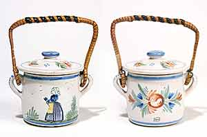 Quimper pot with handle