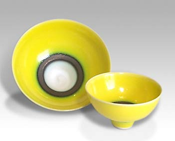 Two Yellow Wills bowls