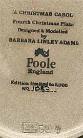 Poole 1981 Christmas plate (mark)