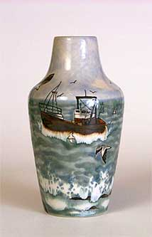 Cobridge Gull Rock vase
