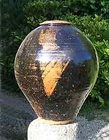 Large covered pot by Bill Marshall