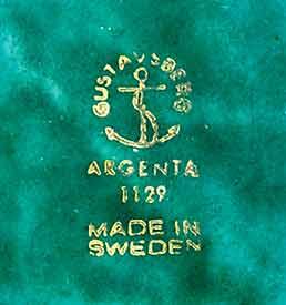 Argenta dish (mark)
