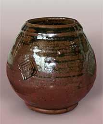 Tenmoku glazed Hamada pot