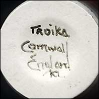 Troika cylinder vase (mark)