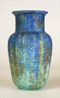 Blue Bretby vase