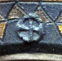 Dark blue porcelain vase (mark)