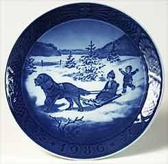 Copenhagen Christmas plate