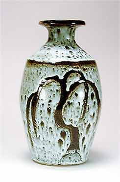 Large David Leach bottle vase
